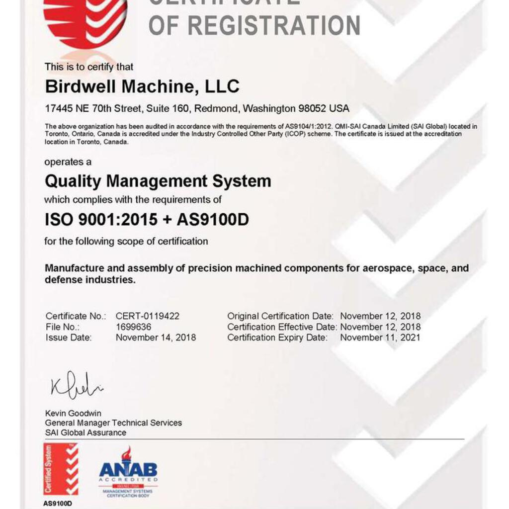 Birdwell Machine product image 13
