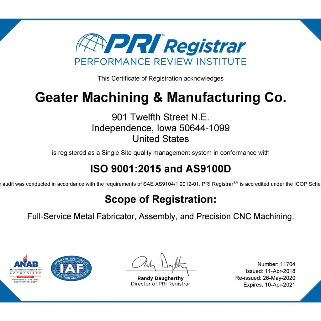 Geater Machining & Manufacturing product image 11