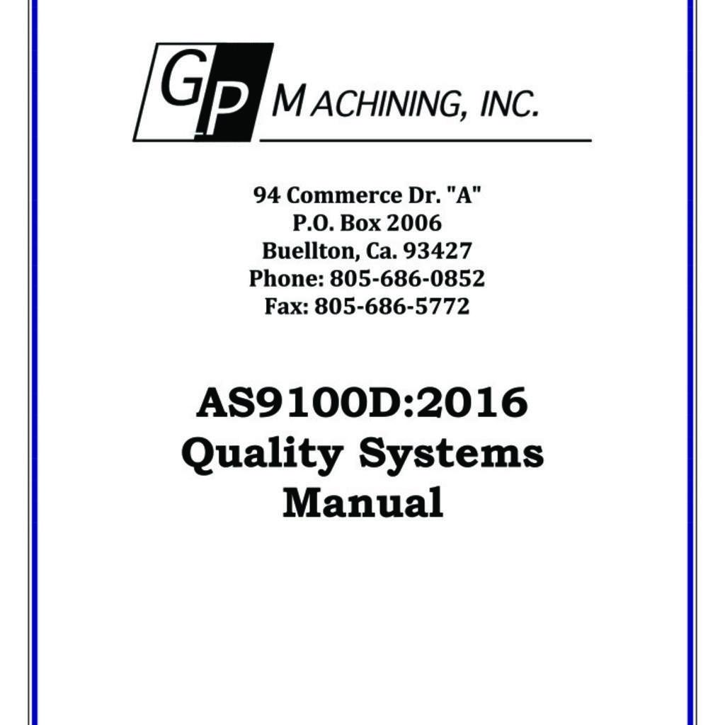 GP Machining, Inc. product image 0