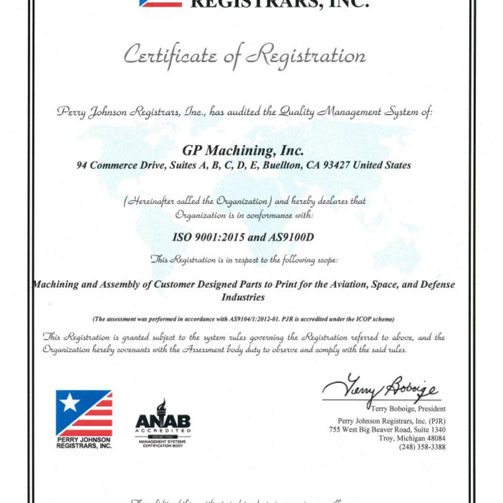 GP Machining, Inc. product image 1