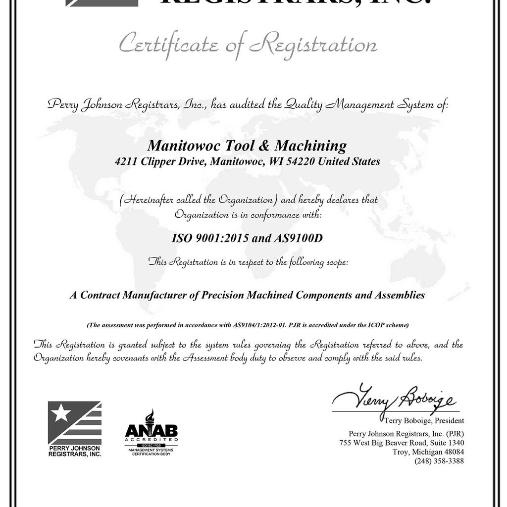 Manitowoc Tool & Machining, LLC product image 71