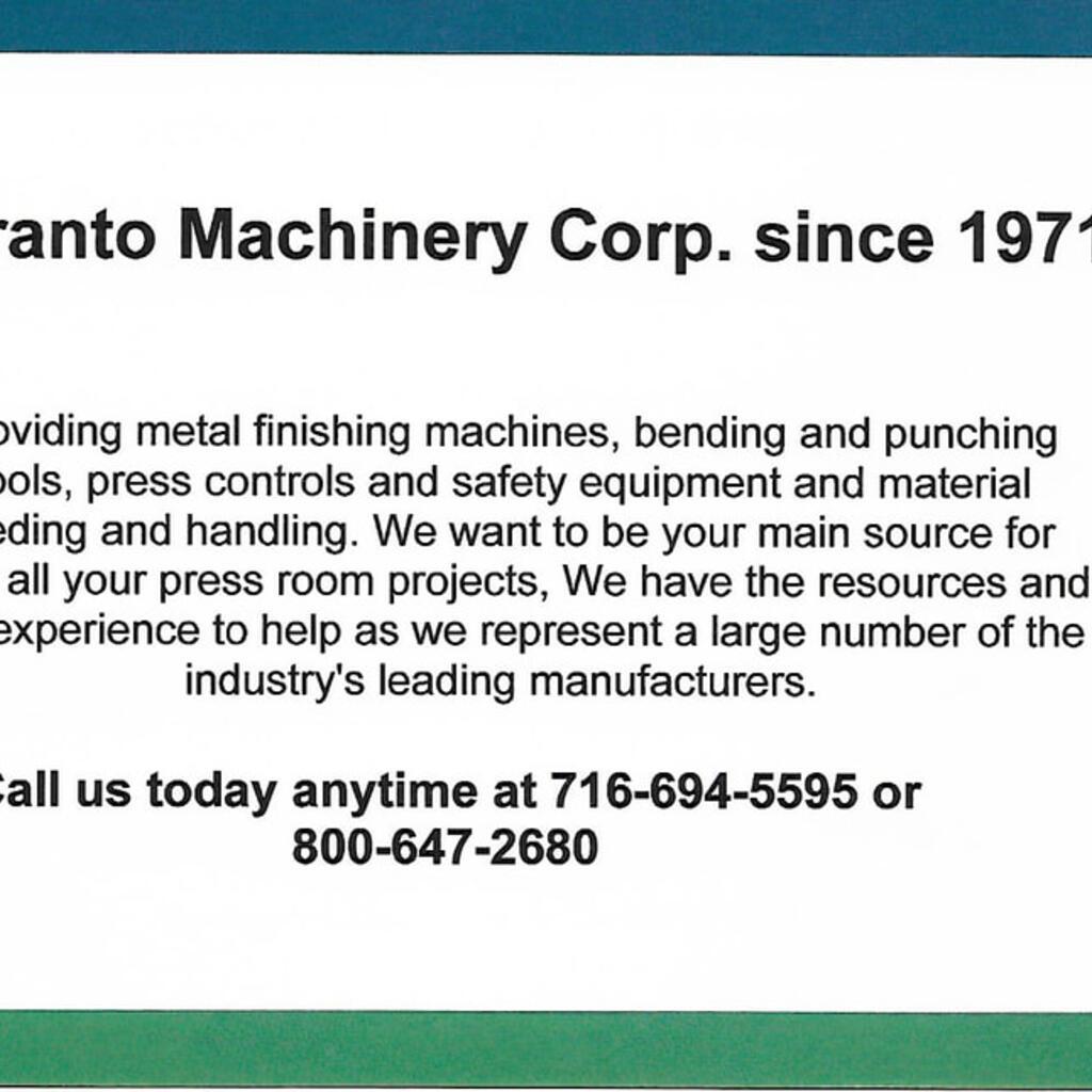 Miranto Machinery Corporation product image 1