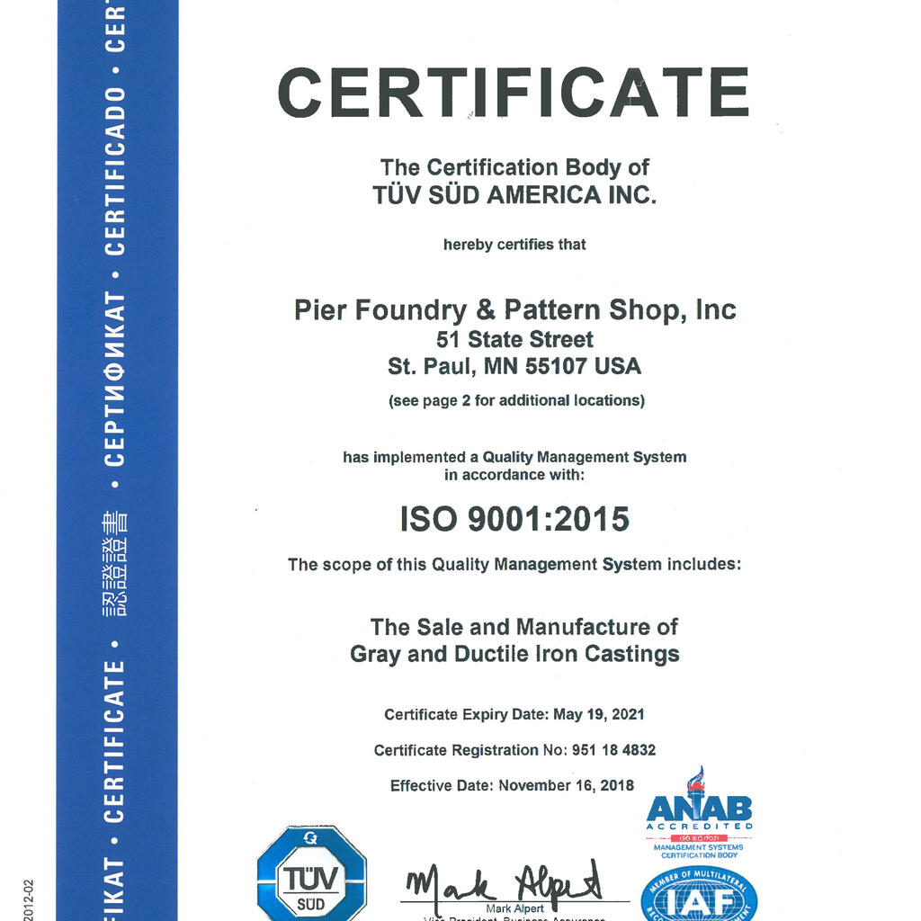 Pier Foundry & Pattern Shop, Inc. product image 1