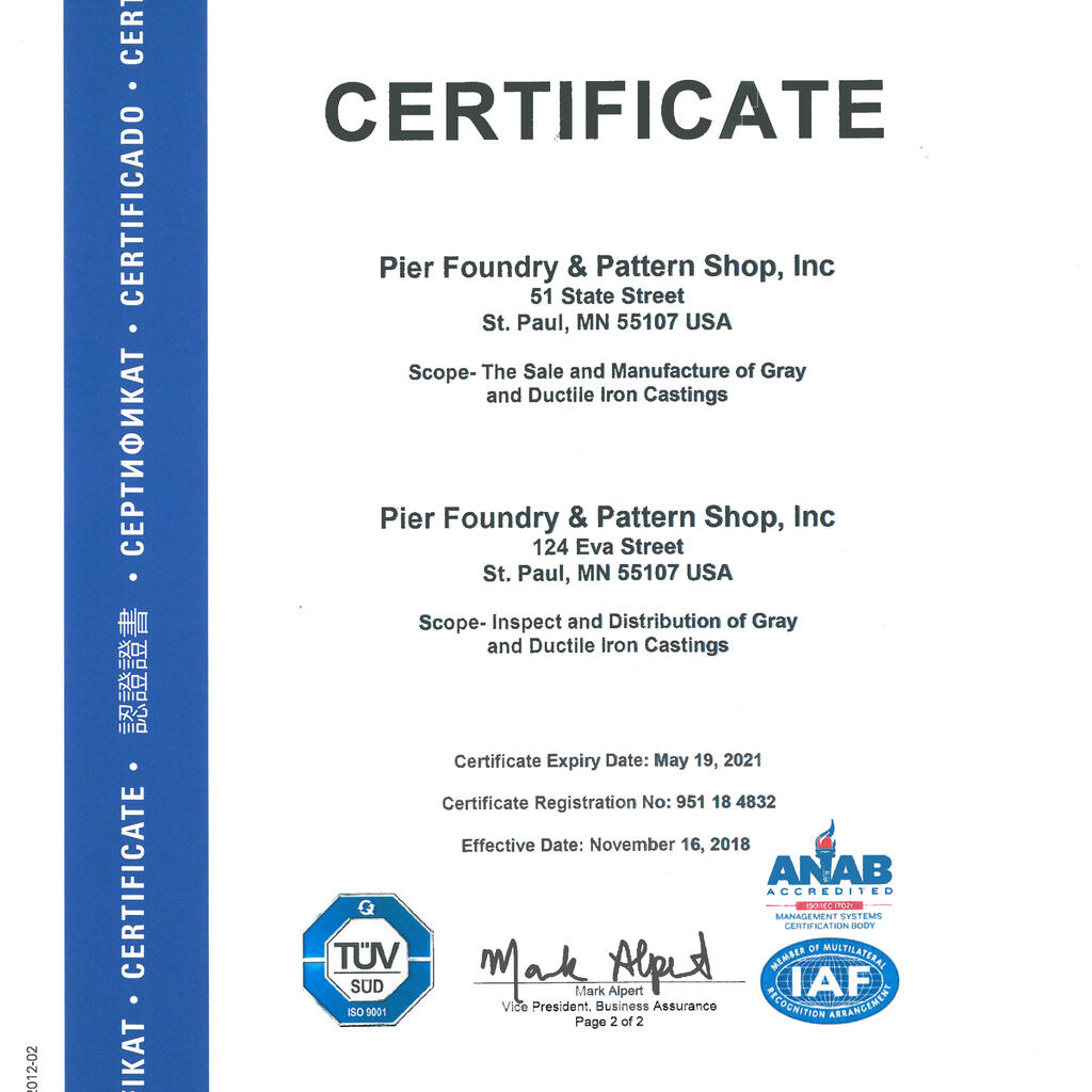 Pier Foundry & Pattern Shop, Inc. product image 2